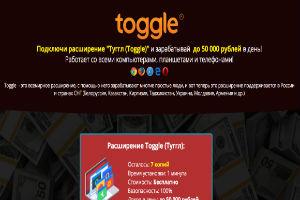 Расширение Toggle Туггл