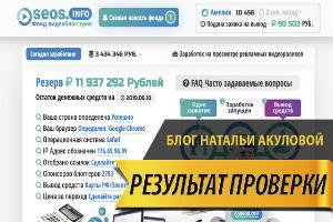 Ирина Бондаренко личный блог домохозяйки Seos.Info фонд видеоблоггеров
